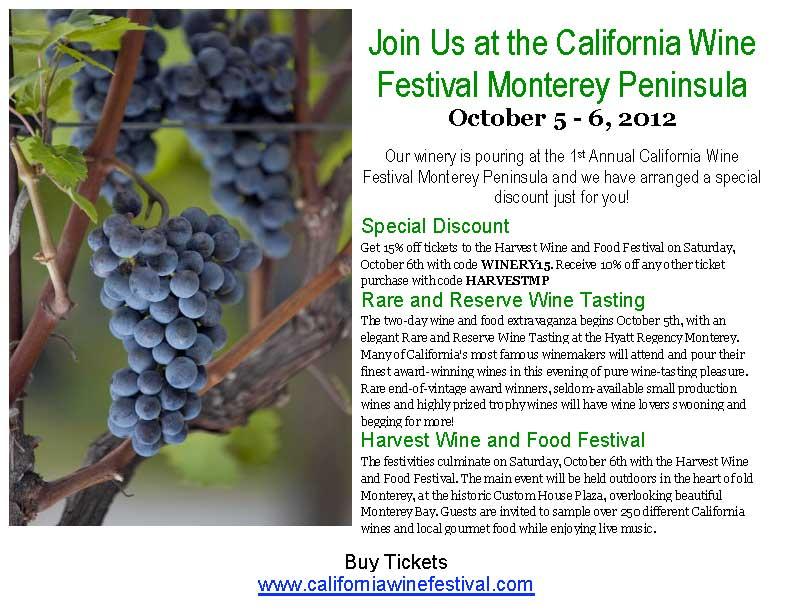 Michaud Vineyard at the California Wine Festival, Monterey Peninsula
