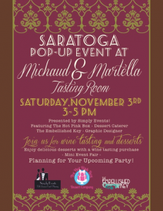 Saratoga Pop Up Event at M4 Tasting Room